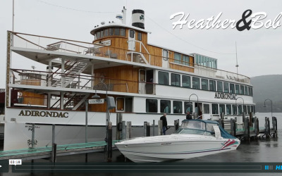 Heather and Bob's Lake George Cruise Wedding Video