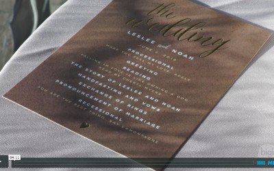 Leslee & Noah's Saratoga National Wedding Video