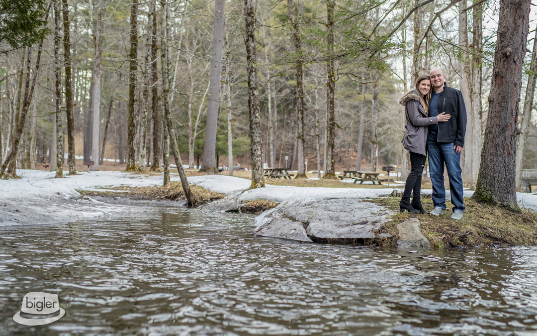 Elizabeth and Chris' Saratoga Spa State Park Engagement Shoot