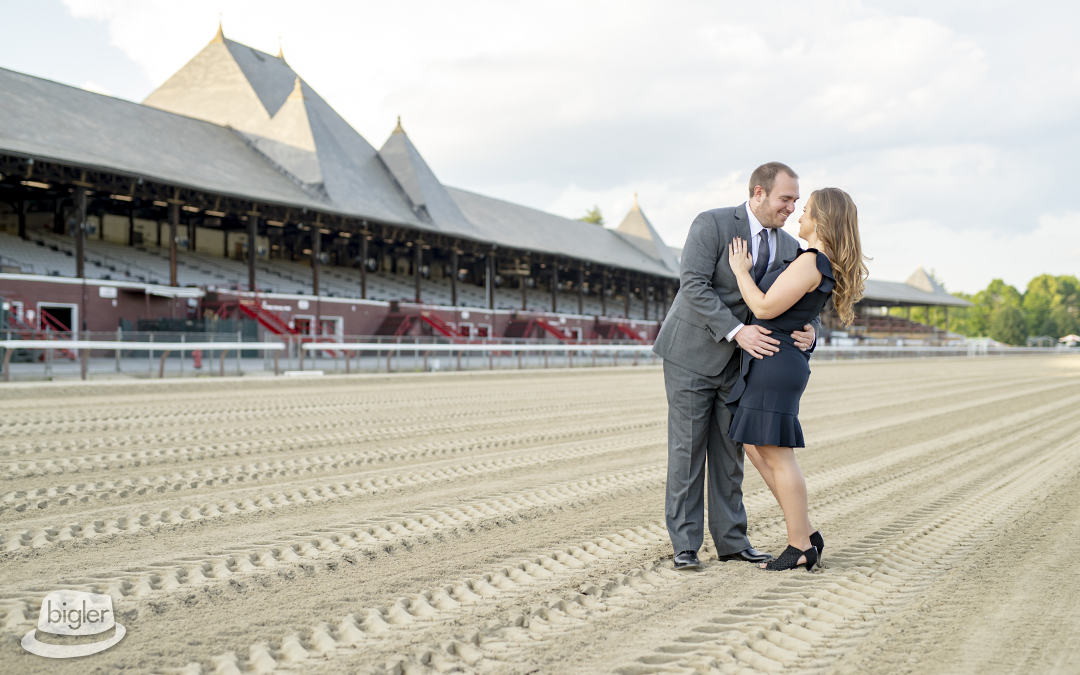 Carly & Kurt's Saratoga Race Course Engagement Shoot