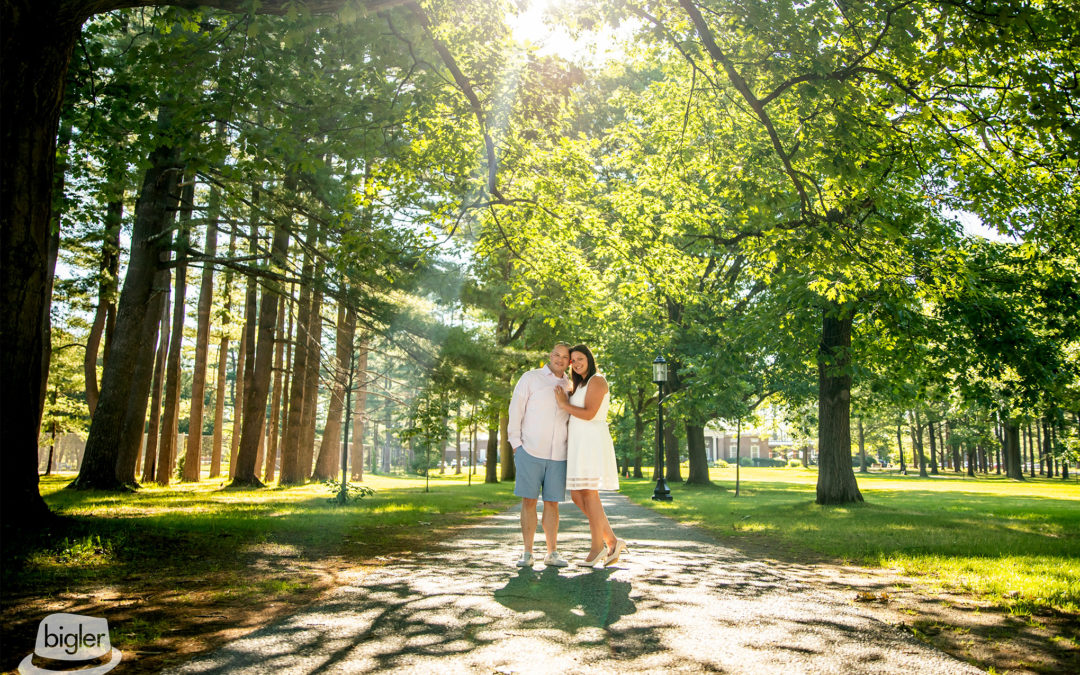 Kelsey & Nick's Spa State Park Engagement Shoot